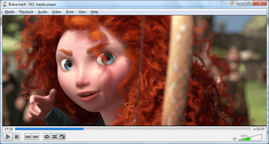 Disney Pixar Brave movie video screenshot on VLC