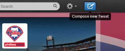 Twitter compose new tweet button