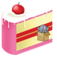 happy birthday cake elephant box cartoon