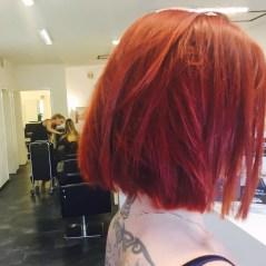 Neuer Look für unsere Kundin mit Knallfarbe rot
