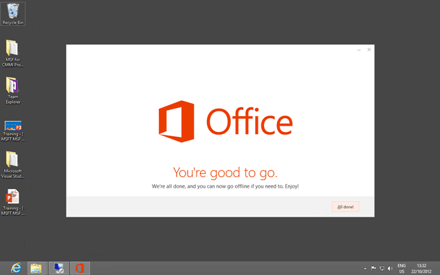 You are good to go with Office 2013