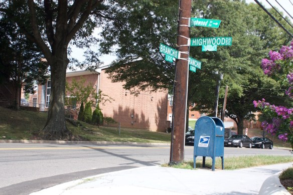 Branch Ave., 2015. Note new sidewalks.