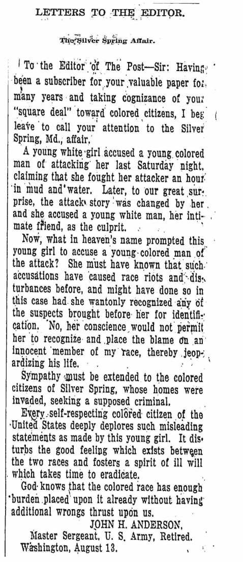 The Washington Post, August 14, 1925.