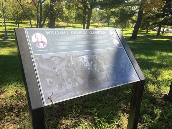 Historical marker, Jesup Blair Park, Silver Spring, Maryland.