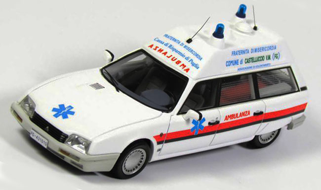 Kess Scale Models 1987 Citroën CX TGE Break Ambulance Fraternita Misericordia