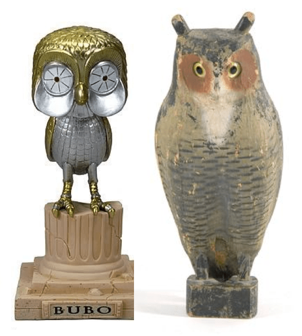 Funko and Vintage Decoy Owls
