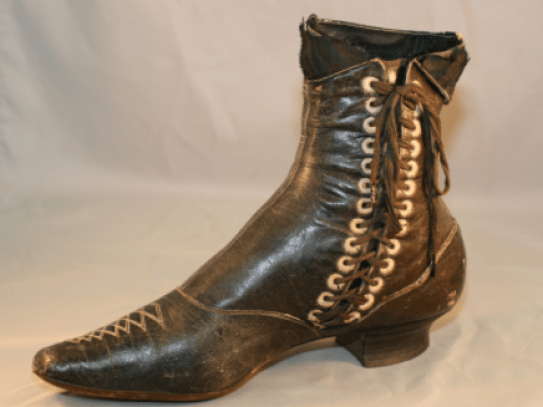 1890's lace-up ankle boot