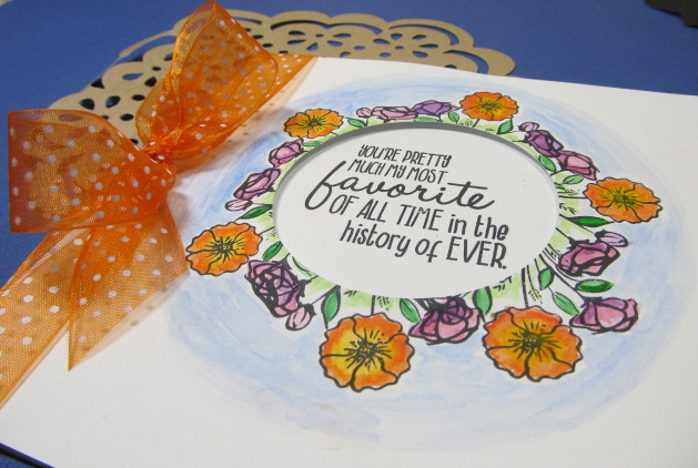 Crafting with Carrie – Watercolor window card