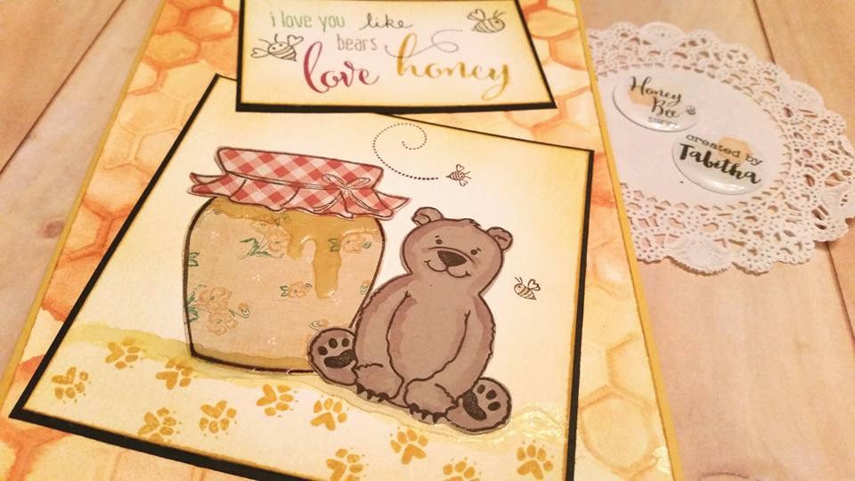 I love you like bears love honey!  Card