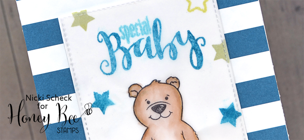 Baby Card using Flakey Friends