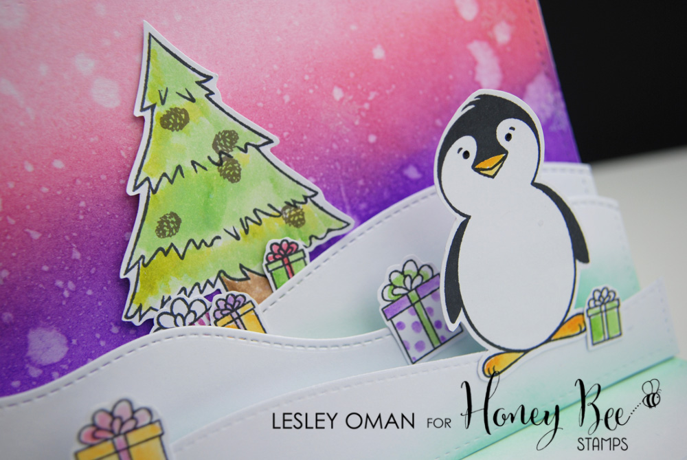 Flakey Friends Pop Up Christmas Card