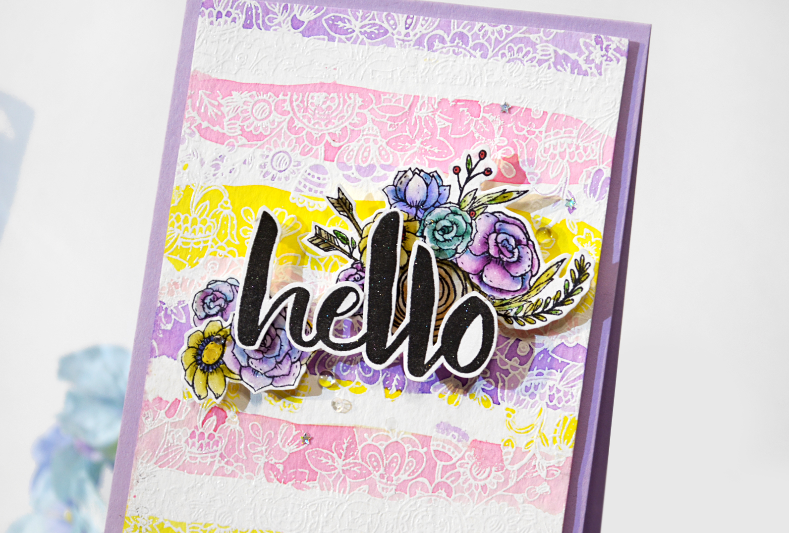 Card with Colorful stripes