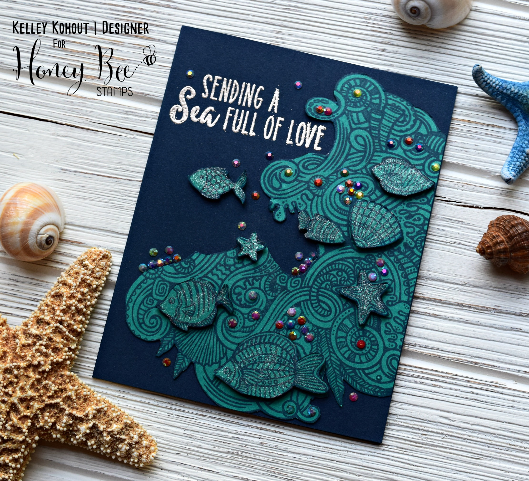 Sea of Love with the Zen Ocean Stamp Set