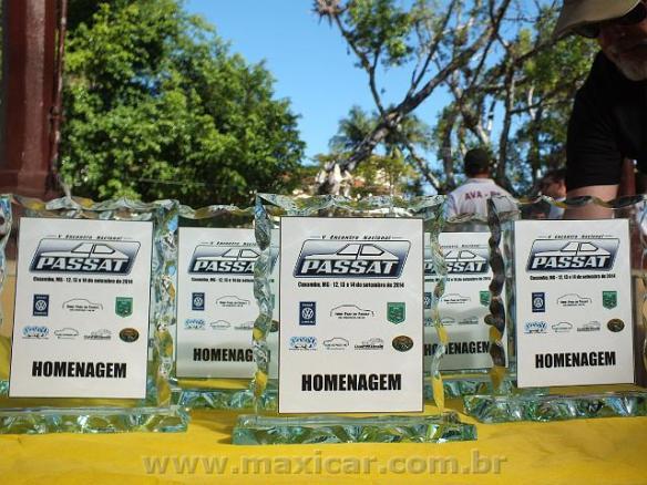 Troféus que foram distribuídos aos homenageados. Imagem: Portal Maxicar