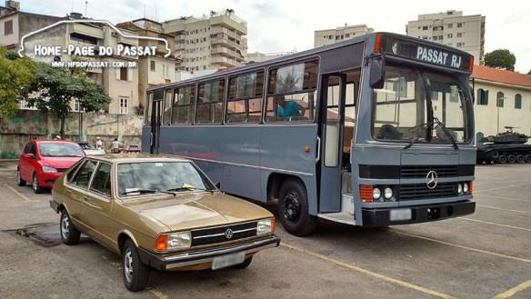 """Passat LSE 1980 e a """"sede móvel"""", Caio Amélia 87/88, onde a reunião foi realizada"""