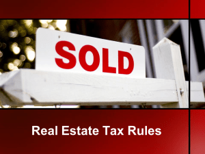 Real Estate Tax Rules