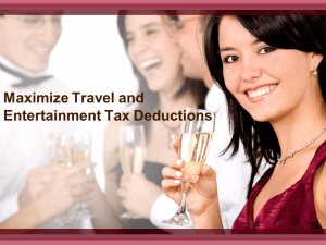 Maximize Travel and Entertainment Tax Deductions