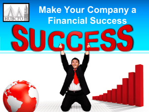 Make Your Company a Financial Success