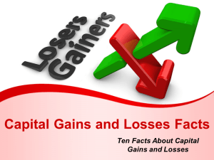 Capital Gains and Losses Facts
