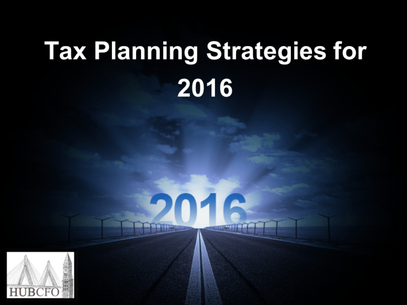 Tax Planning Strategies for 2016