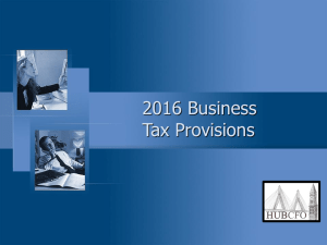 2016 Business Tax Provisions