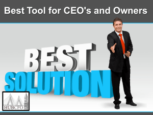 Best Tool for CEO's and Owners