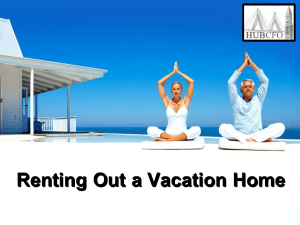 Renting Out a Vacation Home
