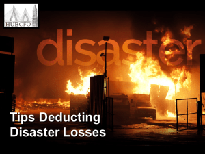 Tips Deducting Disaster Losses
