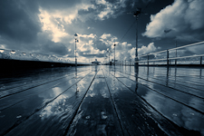 Rain on the North Pier - Blackpool, England