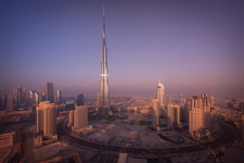 Business Bay and the Burj Khalifa - Dubai