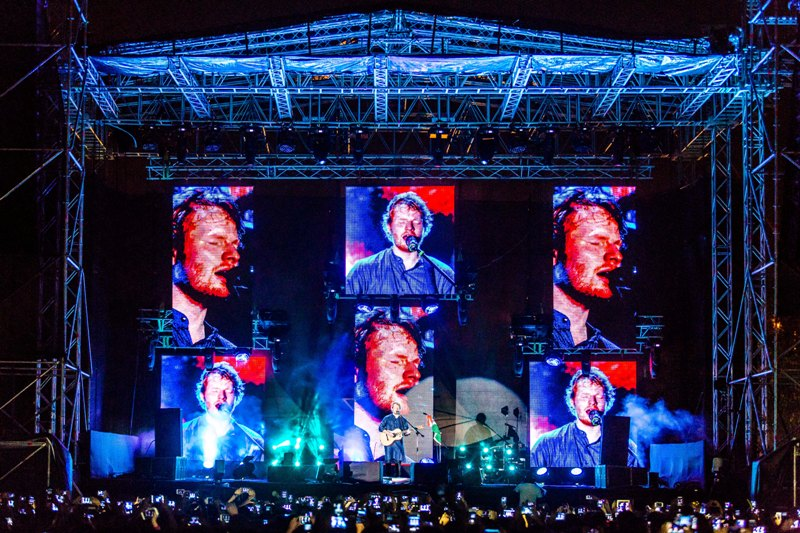 Ed Sheeran performing in Mumbai (Image credit- The Moneta-courtesy of Percept Live)