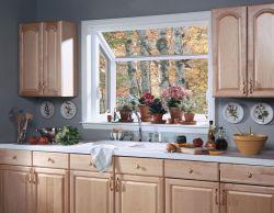 Captivating Interior View A Kitchen Garden Greehouse Window Above A Sink Kitchen Garden Greenhouse Sink Window Boxes Kitchen Bay Window Shelves Kitchen Bay Window Treatment Ideas