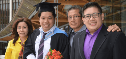 How to get a first class degree: Fhendra Susanto and family on graduation