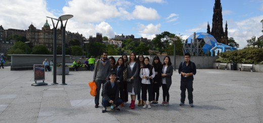Exploring Edinburgh: students in Holyrood Park