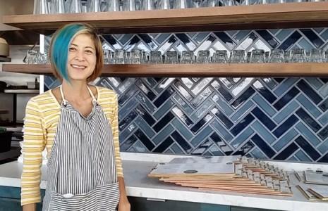 Chef Andrea Uyeda at her restaurant, ediBOL. Photo by Carol Cheh.