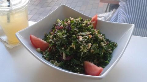 Café Dulce's Peanut Kale Salad.