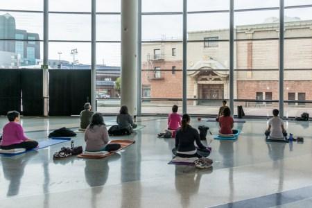 Mottainai Yoga at JANM. Photo by Ben Furuta.