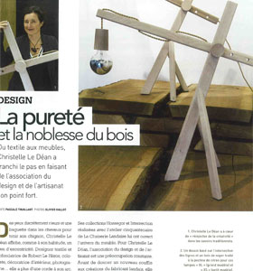 Article Art&Décoration Talent Design La Pureté et la noblesse du bois