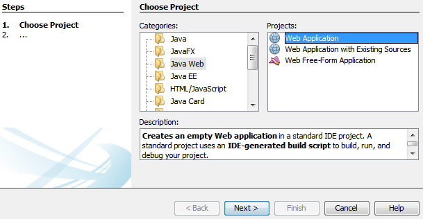 create java web application