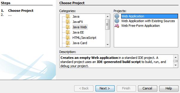 create java web application