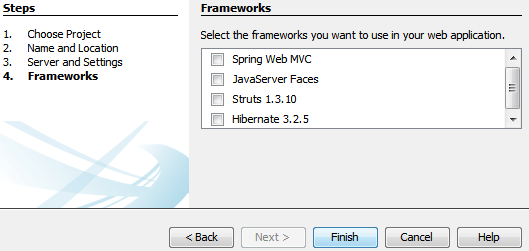 select the framework