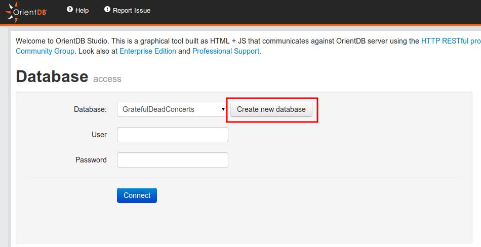 create database orient