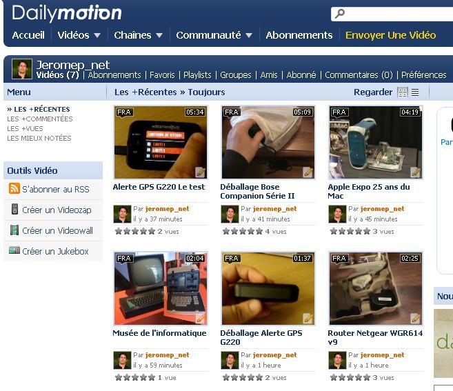 Jeromep.net sur Dailymotion