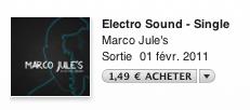 Marco Jule's Nouveau Single : Electro Sound