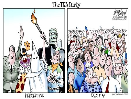 Fantasy . Reality - Leftists' View Of The Tea Party