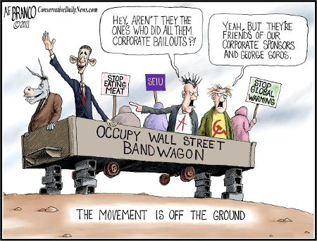 Obama Jumps On The Occupy Wall Street Bandwagon, Goes Nowhere