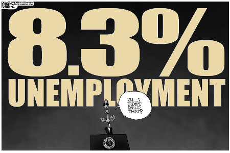 Consistent 8%+ unemployment - Obama Built That