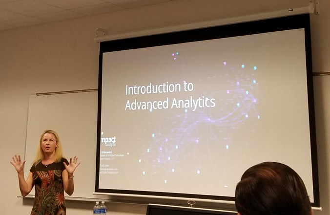 Jen Underwood presenting Advanced Analytics