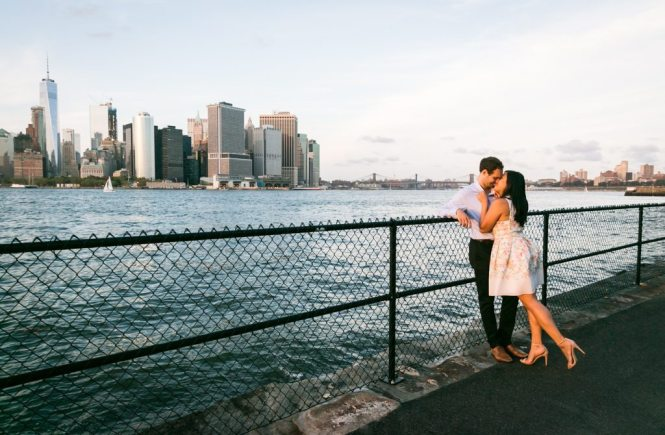 Governors Island engagement photo