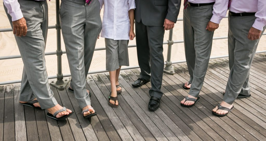 Groomsmen portrait for an article on should you see each other before the wedding by NYC wedding photojournalist, Kelly Williams